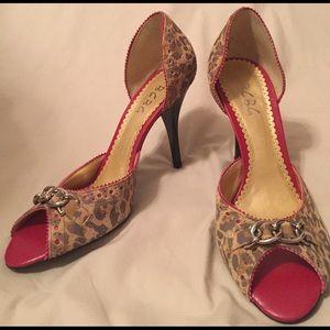 Leopard print BCBG heels